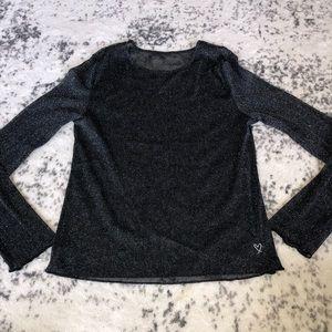 Victoria's Secret shimmery mesh long sleeve top